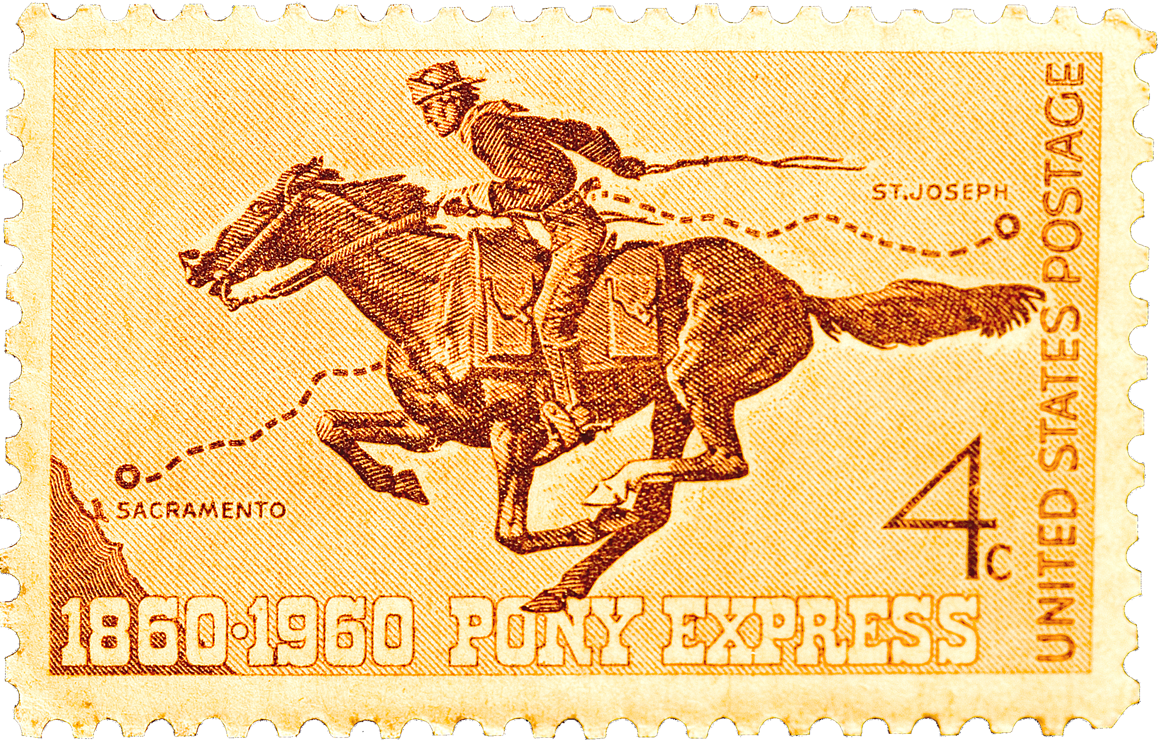 Pony Express Centennial Celebration USPS Stamp