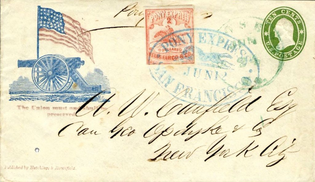 historic Pony Express envelope