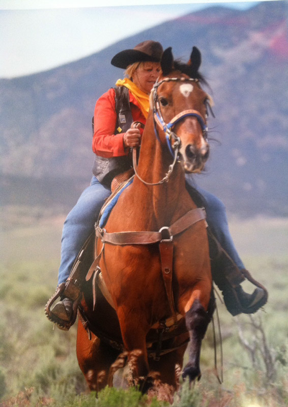 Carol Hunt riding her Missouri Fox Trotter, Eagle.Photo by Harry Franke